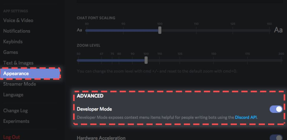 Developer Mode on Discord